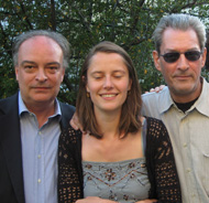 With Celine Curiol at Paul Auster home in New York