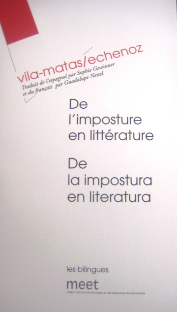 De l'imposture en littérature (France: Meet, 2008)