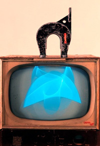 Magnet tv, 1965 Nam June Paik